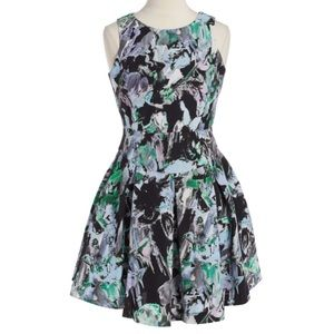 Milly Minis Floral Print Sleeveless Dress